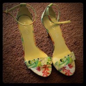 Aldo Flowered Heels